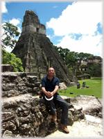 Arturo Tapia in Tikal, Guatemala
