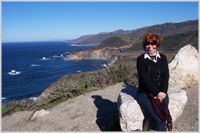 Glynis on the Big Sur